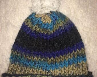 Multicolor knit children's size hat