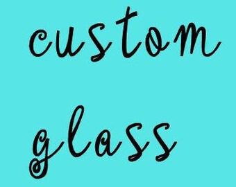 custom STEMMED wine glass