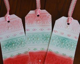 Reindeer, Snowflake large gift tags