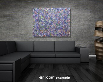 """48"""" x 48"""" X-large abstract painting"""