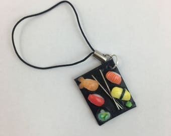 Sushi Plate Polymer Charm