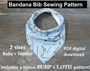 bandana bib sewing pattern, pdf bandana bib, bibdana pattern, baby bandana pattern, bibdana pattern download, dribble bib sewing pattern