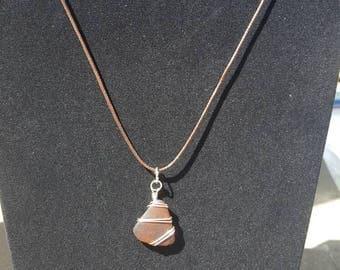 Brown Sea-glass Pendant
