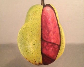 Pear art Print on A4 injket Matte paper
