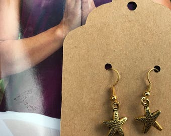 Starfish French hook earrings