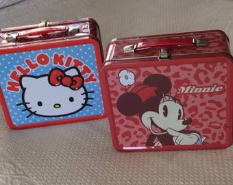 Minnie Mouse & Hello Kitty Lunch Boxes