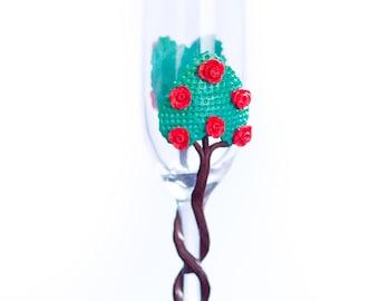 Rose Tree Glass