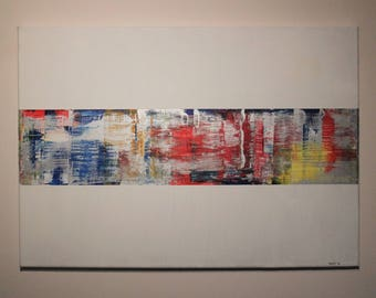 abstract painting modern art bright colourful hand painted 1