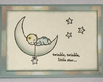 Twinkle Twinkle Little Star Handmade card