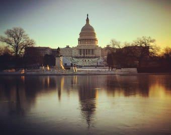 Reflection US Capitol Washington DC