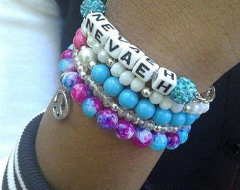 Nevaeh's Beaded Bracelets (SOLD SEPARATELY)