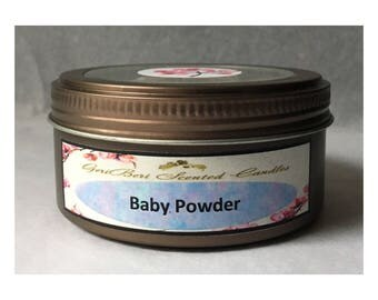 Baby Powder Double Wick Soy Candle Tin