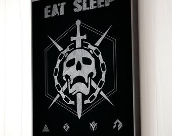 DESTINY EAT SLEEP raid repeat print