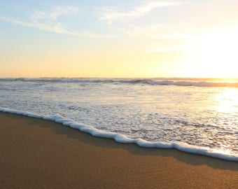 Sunset Digital Download | Beach | Ocean | Sand | Sea | Travel photography | Nature photo | Landscape | San Diego | California | Foam | Coast