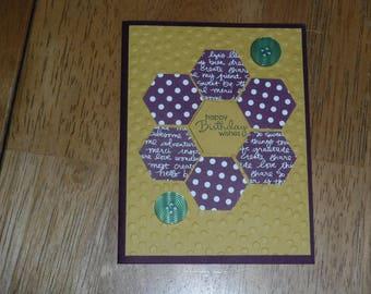 Happy Birthday Wishes - blank card