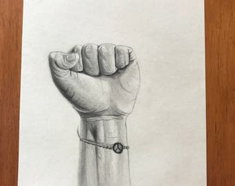 Acts of kindness- original hand drawn pencil drawing