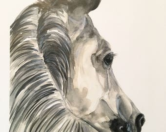 Horse Original Watercolor PRINT