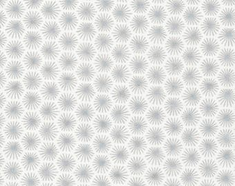Fat Quarter Cloud 9 - Michelle Engel Bencsko - Aubade Morn's Rays Silver (Sparkle) Organic Cotton Quilting Fabric