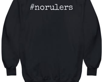 Anarchy Hoodie #norulers - Red and White On a High Quality Black Hooded Sweatshirt for Women and Men