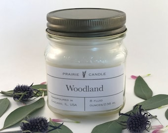 Woodland scented soy candle, pine, fir scented candle, nature scented candle