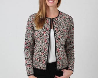 Jaba Reversible Jacket in Spot Print - 100% Cotton