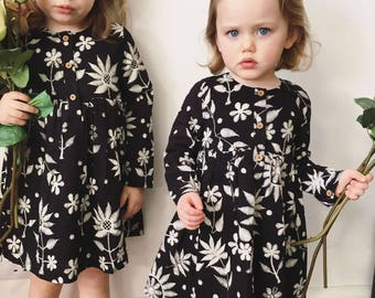 Jaba Kids Tabitha Dress in Embroidered Print - 100% Cotton