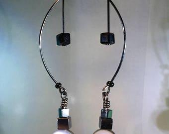 Gunmetal Dangle Earrings 201742004