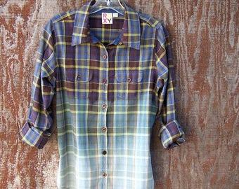 Half-Bleached Flannel Shirt