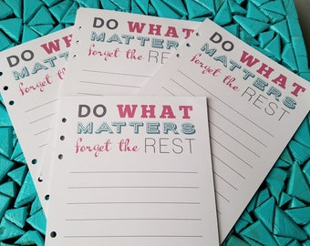 Quotable Planner Insert, Agenda Insert, Quote, Notepaper for A5