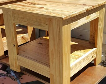 Southern yellow pine end table.