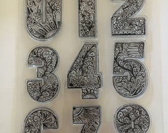 Highly Designed Number Stamps, Rubber Cling Stamps never used