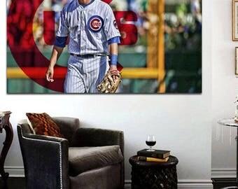Kris Bryant Chicago Cubs Wall Canvas Art 24 x 36 Print Bryzzo, Cubs 2016