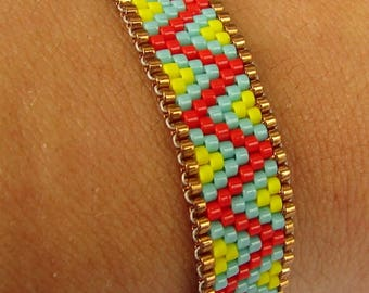 Friendship woven beaded bracelet