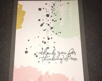 Greeting Card, Thank You