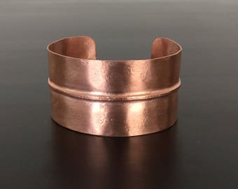 Fold-Formed Copper Cuff Bracelet