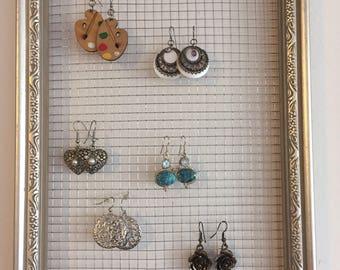Silver Earring Rack/Jewelry Organizer