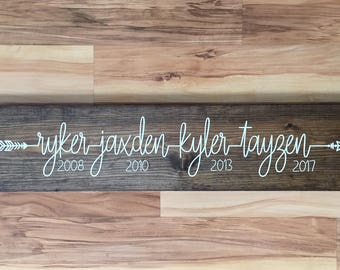 Handmade personalized name sign
