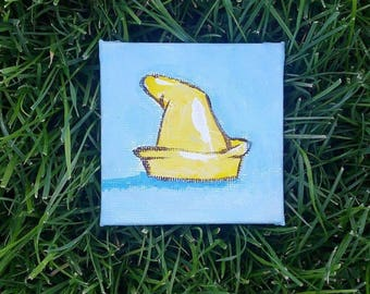 Dumbo Hat // Mini Canvas Magnet