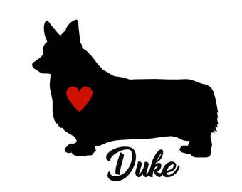 Welsh Corgi Decal, Personalize With Your Dog's Name, Welsh Corgi Sticker, Pembroke Welsh Corgi, Pembroke Welsh Corgi Decals, Corgi Decal