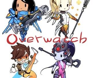 Overwatch keychains