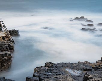 Stairs into the sea, seascape, ireland, landscape, photography