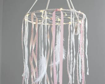 Dream catcher bright mobile Dreamcatcher - Sleepy baby pink