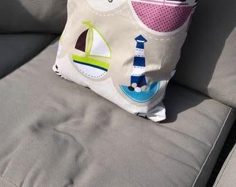 Cushion baby pillow • sailboats •