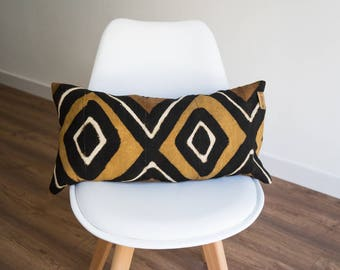 60 x 30 cm bogolan cotton fabric cushion