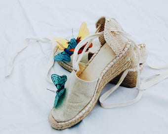 Butterfly Espadrilles SIZE US 7