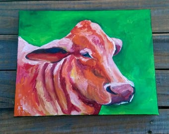 Beef Cow Profile- Cows- Cow Painting