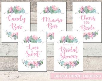 Bridal Shower Sign Package Tea Garden Party Checklist Planning