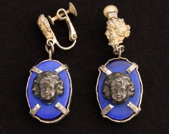 Jean Paul Gaultier 1990s  Cherub Screw Back Earrings