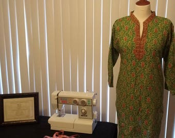 Vintage Kurta/Short Long Sleeve Tunic