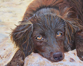 Custom Pet Oil Painting